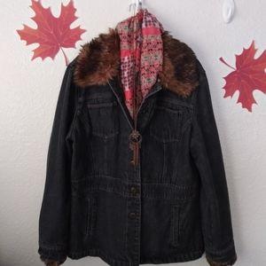 Nine West Black Jean Jacket